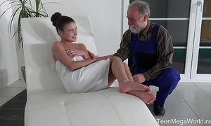 Old-n-young.com - anita bellini - old dude cums into a recent throat