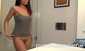 Petite milf desires to be escort and is secretly filmed