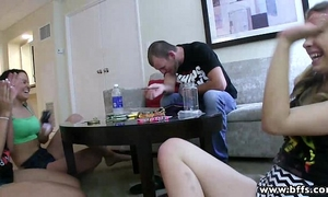 Bffs - legal age teenager addicts on a 3some sex party