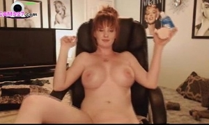 Milf redhead with large milk cans from texas using her sextoy on cams27.com