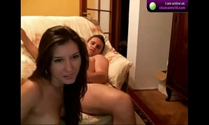 Ravishing latin chick screwed by unsightly guy on livecam on livecam