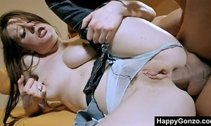 Hot hungarian hotwife drilled in fur pie and booty by 3 dudes