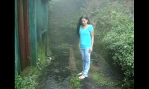 Desi legal age teenager archana sucking,fucking hard by bf in groaning in rainy garden
