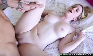 Exxxtrasmall - miniature hairless alexia gold taking a biggest cock