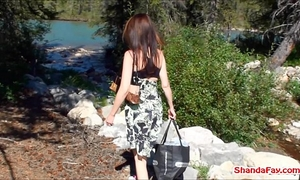 Canadian cunt outdoors! milf shanda fay receives off!
