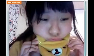 Asian university student with large bra buddies on cam