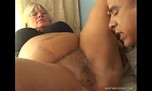Blonde bbw acquires her bulky bawdy cleft screwed