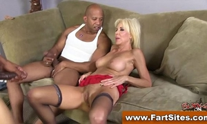 Interracial loving cougar drilled
