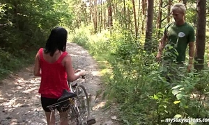 Busty biker honey terry acquires nailed in woods