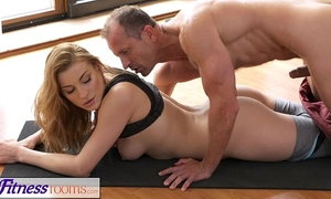 Fitnessrooms yoga taskmaster teaches youthful student raunchy techniques