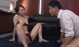 Astonishing Japanese lady in sexy lingerie gets deeply fucked