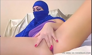Arab chick plays on camera