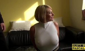 Mature s&m brit paddled and drilled