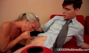 Stepmom copulates youthful son on prom night and takes his virginity - leilani lei