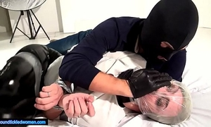Ammalia handsmothered fastened tickled and suffocated by a dude in balaclava